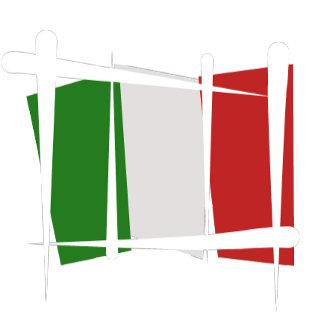 Italy Brush Flags - white strokes