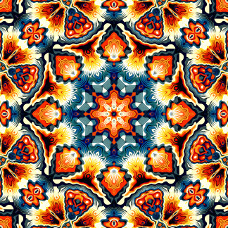 Colorful Concentric Motif