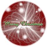 Merry Christmas Silk Filaments Puff Disk 11252010-