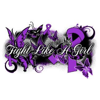 Epilepsy Fight Like A Girl Grunge Butterfly