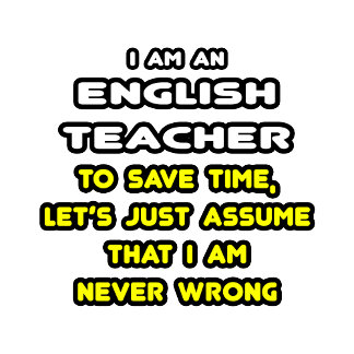 Funny English Teacher T-Shirts and Gifts