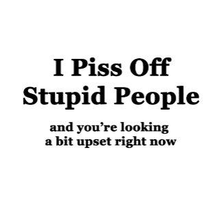 I Piss Off Stupid People...