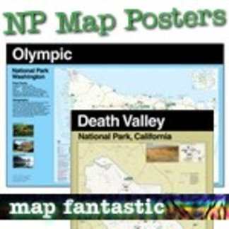 National Park Map Posters