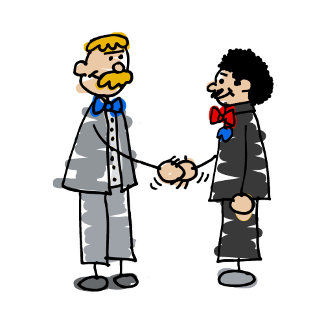 Gay Grooms Marry