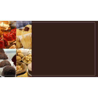Four Dessert Panel on Chocolate Brown