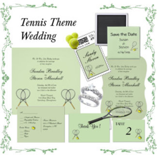 Tennis Theme Wedding