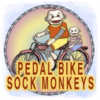 Sock Monkeys Pedal Bike