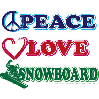 Peace Love Snowboard