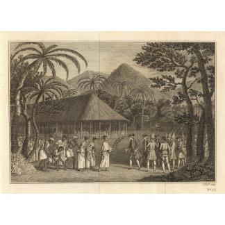 Captain Wallis and Tahitians