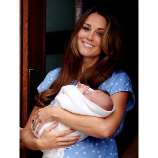 Duchess Of Cambridge Holding Newborn Son 2