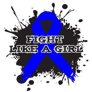 Fight Like A Girl Splatter - Rectal Cancer