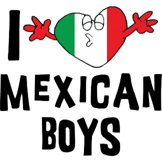 I Love Mexican Boys T-Shirt Cards Gift