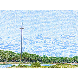 cross landscape sketch st augustine florida