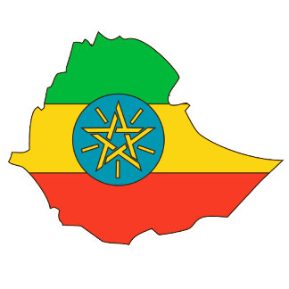 Ethiopia Flag Map full size