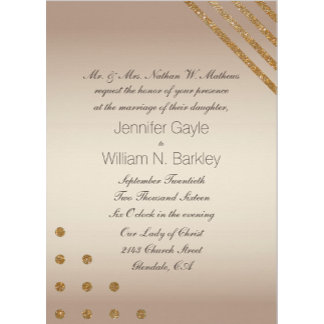 Gold and Champagne Wedding Set