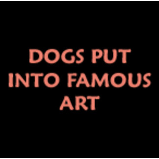 DOGS in FAMOUS ART ORNAMENTS