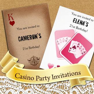 Casino Party Invitations
