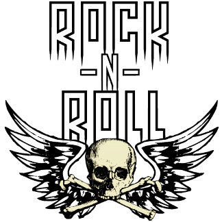 Rock n Roll Skull With Wings