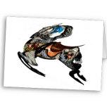 flowered_carousel_horse_caracature_card-p137652533
