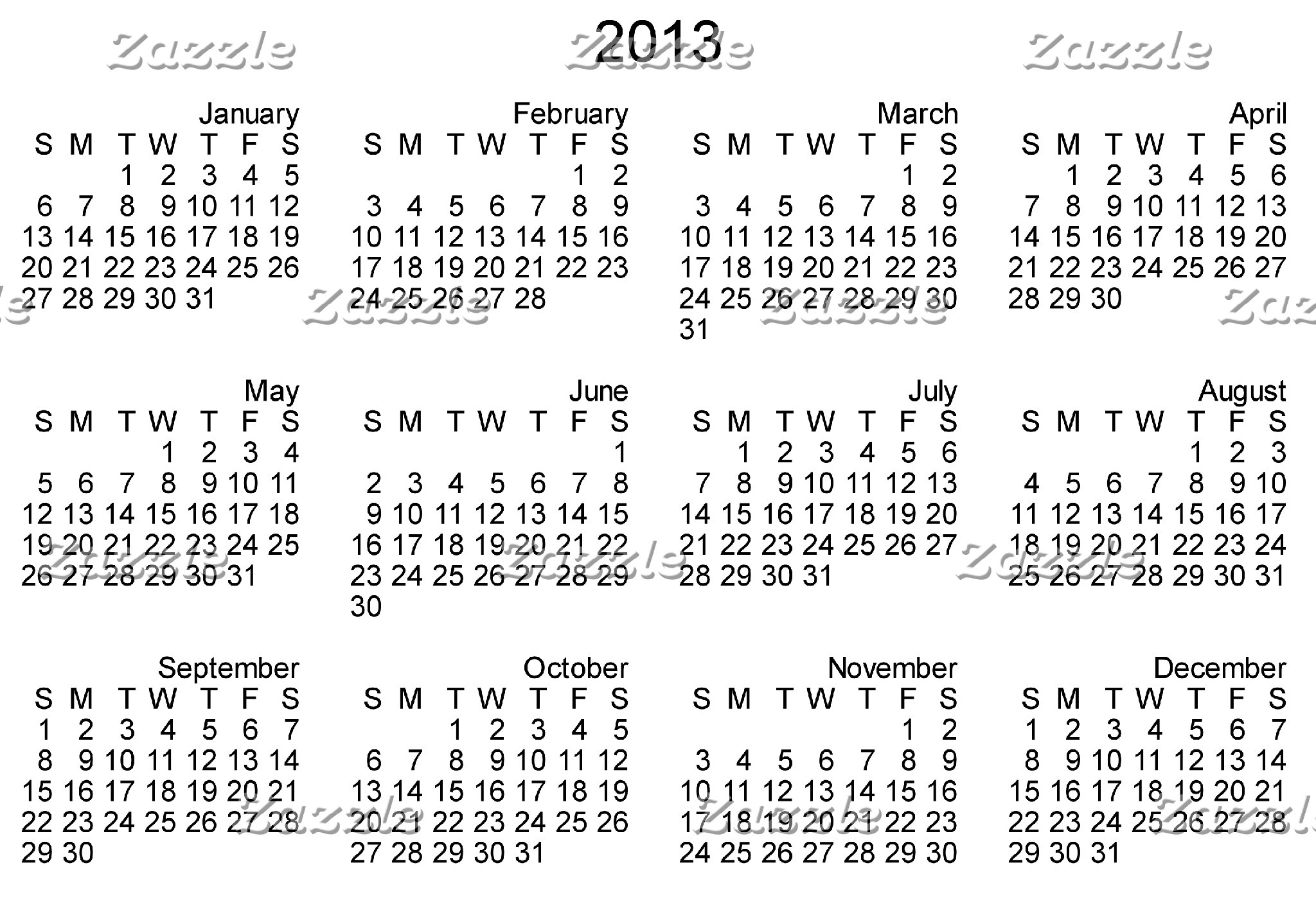 Products with 2013 Calendar