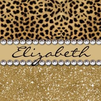 Leopard Spot Glitter Personalize Gifts