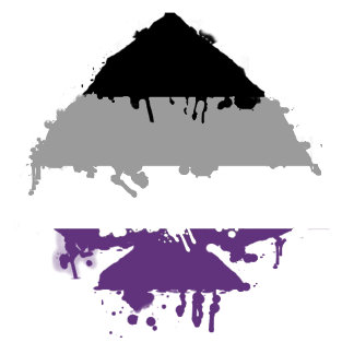 Paintdrip Asexual Ace