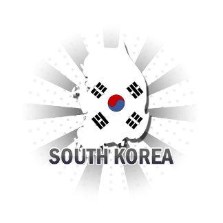 South Korea Flag Map 2.0