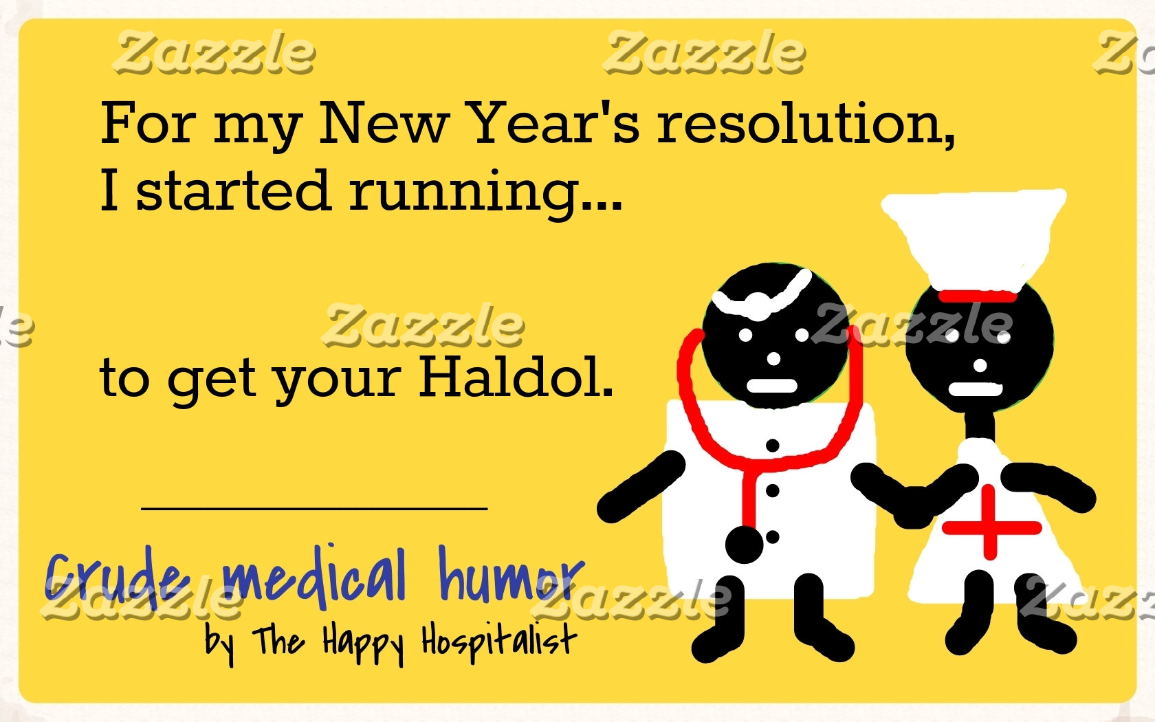 For my New Year's resolution, I started running...