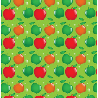 Cute apple green and red pattern