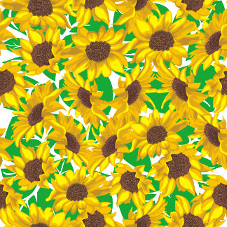 Country Yellow Sunflowers Pattern