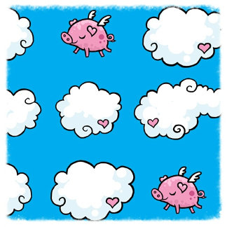 Flying Pig and Cloud Pattern