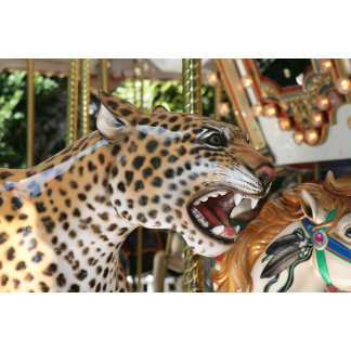 Carousel animal jaguar head image