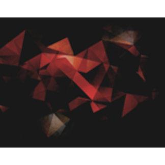 Orange Grunge Geometric Abstract