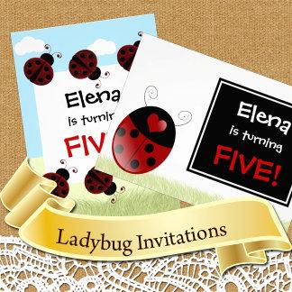 Ladybug Party Invitations