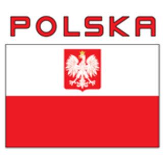 Polish Falcon Flag With Polska