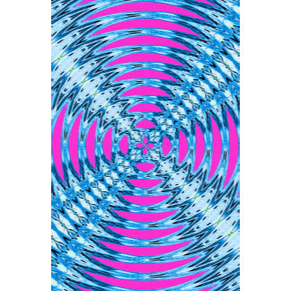 Soundwaves Abstract Pattern Pink and Blue