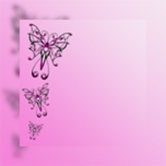 Modern Pink Butterfly on Pink Gradient