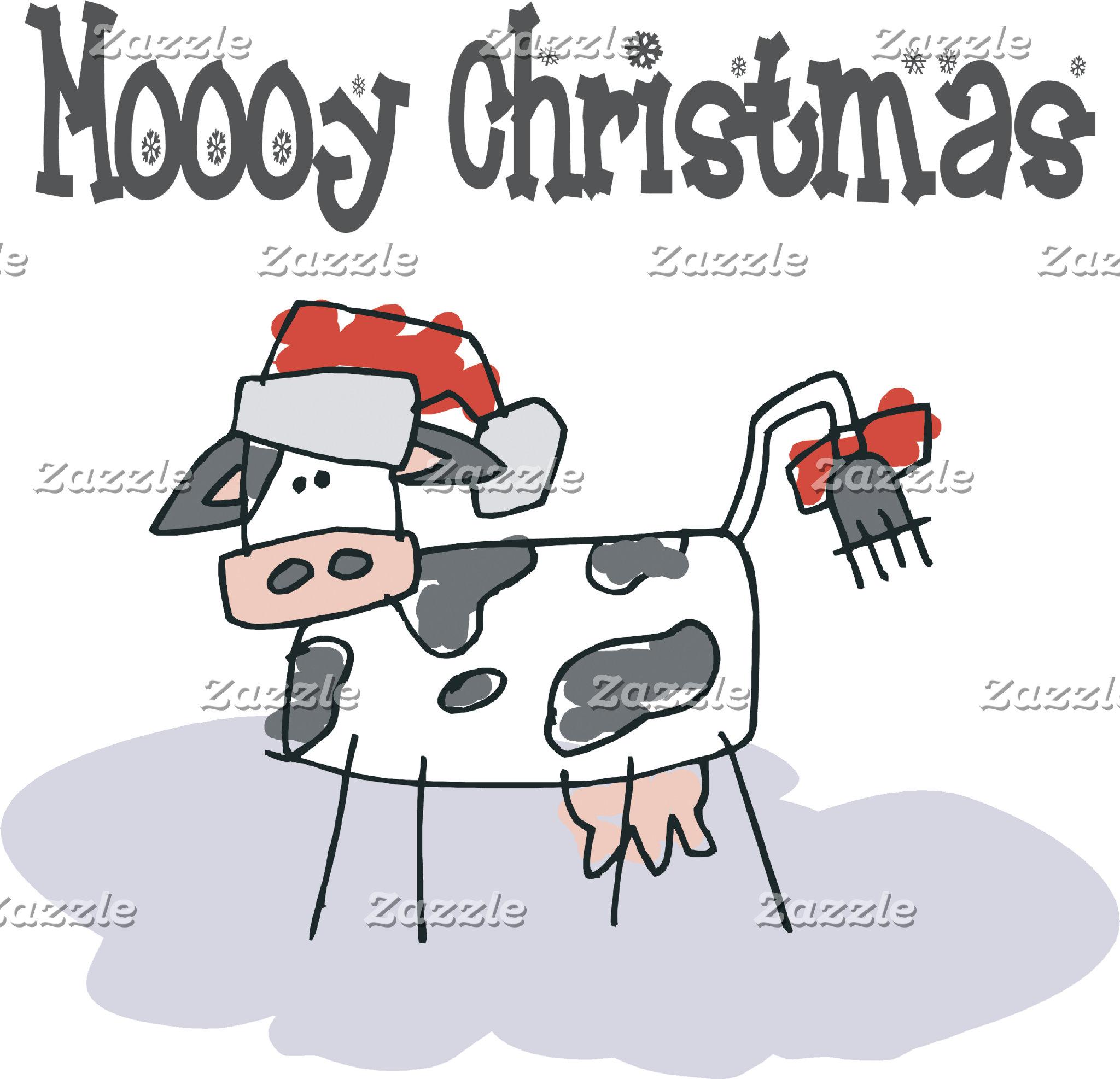 Moooy Christmas T-Shirt Sweatshirt Cards