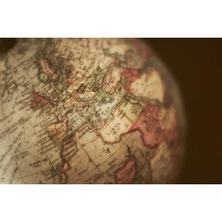 Close-up of antique globe 3