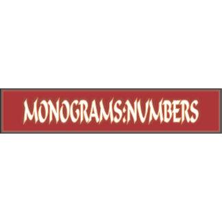 Monograms: Numbers