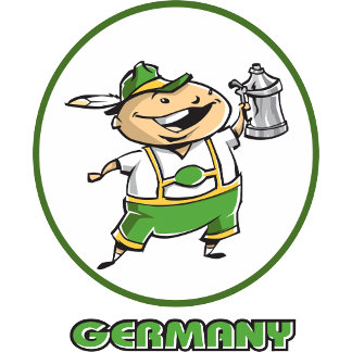 Cute Germany T-Shirt Gifts Cards