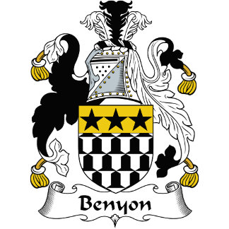Benyon Family Crest / Coat of Arms