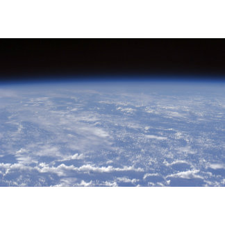 An oblique horizon view of the Earth's atmosphe