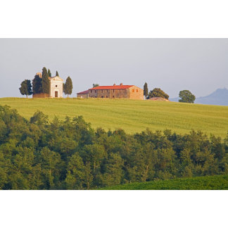 Europe; Italy; Tuscany, Chaple on The Hill