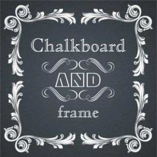 Chalkboard with vintage frame