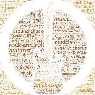 Rock n Roll Guitar Word Art