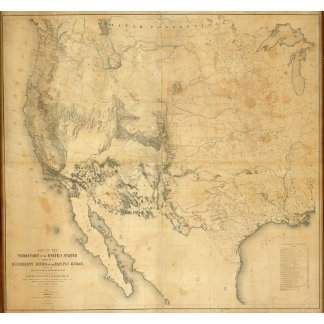 Map of The Territory of The United States