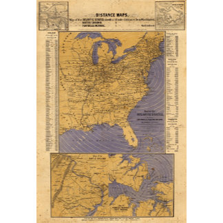 Map of the Atlantic States