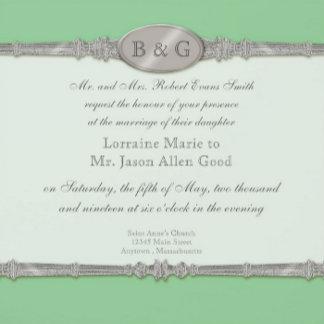 Silver Swirls Moire - Green