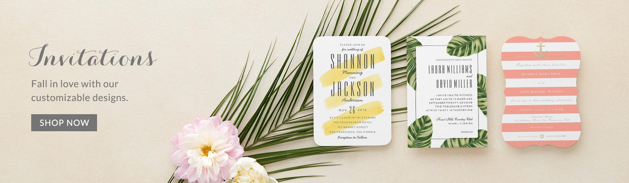 Invitations - Fall in love with our customizable designs.